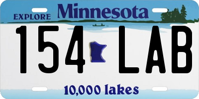 MN license plate 154LAB