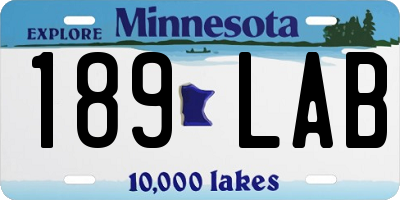 MN license plate 189LAB