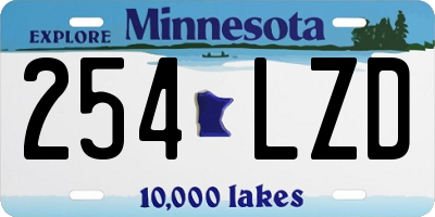 MN license plate 254LZD