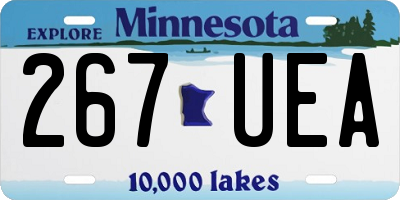 MN license plate 267UEA