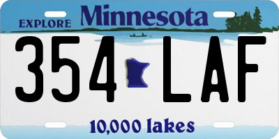 MN license plate 354LAF