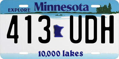 MN license plate 413UDH