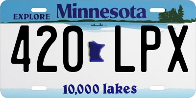 MN license plate 420LPX