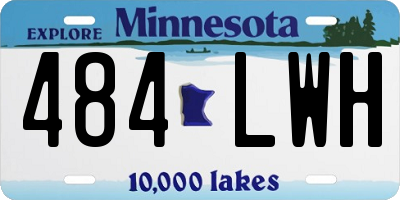 MN license plate 484LWH