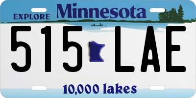 MN license plate 515LAE