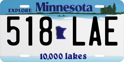 MN license plate 518LAE