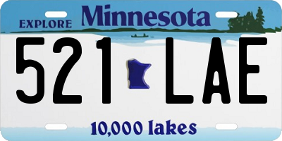 MN license plate 521LAE