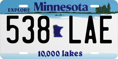 MN license plate 538LAE