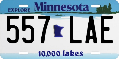 MN license plate 557LAE