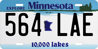 MN license plate 564LAE