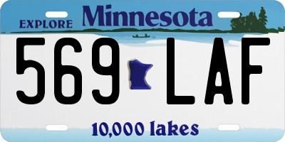MN license plate 569LAF