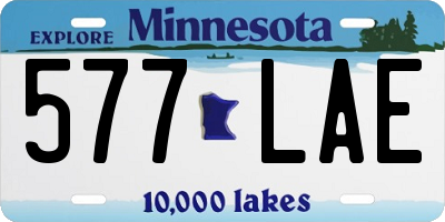 MN license plate 577LAE