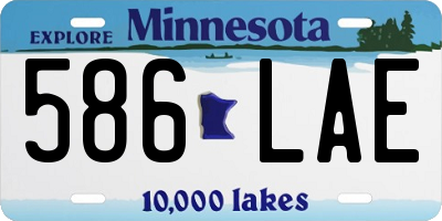 MN license plate 586LAE