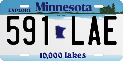 MN license plate 591LAE