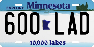 MN license plate 600LAD