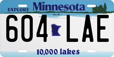 MN license plate 604LAE