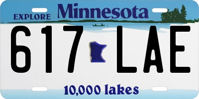 MN license plate 617LAE
