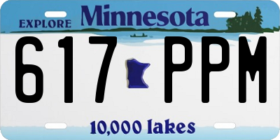 MN license plate 617PPM