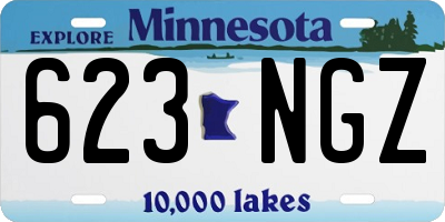 MN license plate 623NGZ