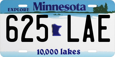 MN license plate 625LAE