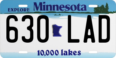 MN license plate 630LAD