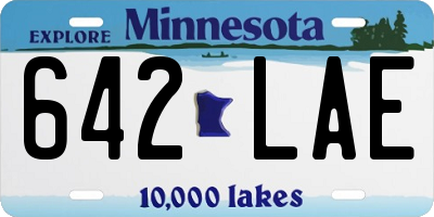 MN license plate 642LAE