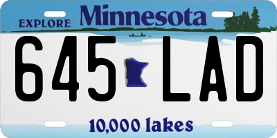 MN license plate 645LAD