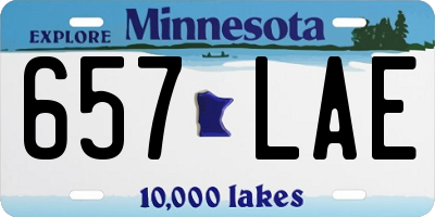 MN license plate 657LAE
