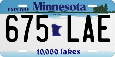 MN license plate 675LAE