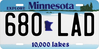 MN license plate 680LAD