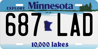 MN license plate 687LAD
