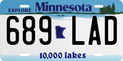 MN license plate 689LAD