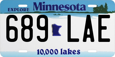 MN license plate 689LAE