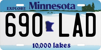 MN license plate 690LAD