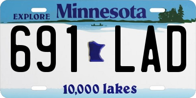 MN license plate 691LAD
