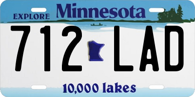 MN license plate 712LAD