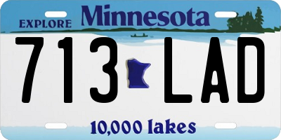 MN license plate 713LAD