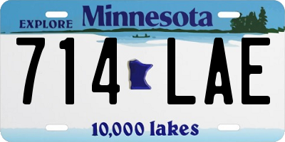 MN license plate 714LAE