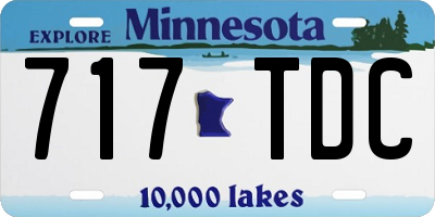 MN license plate 717TDC