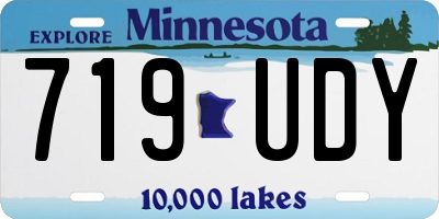 MN license plate 719UDY