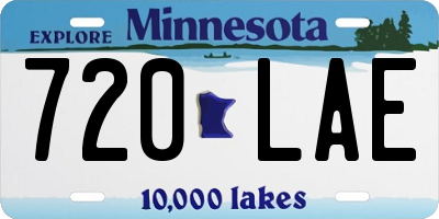 MN license plate 720LAE