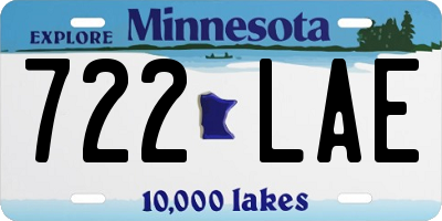 MN license plate 722LAE