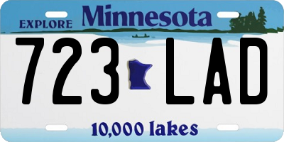 MN license plate 723LAD