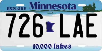 MN license plate 726LAE