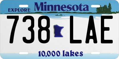 MN license plate 738LAE