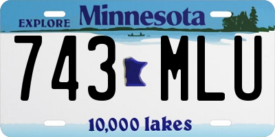 MN license plate 743MLU