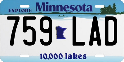 MN license plate 759LAD