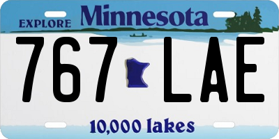 MN license plate 767LAE