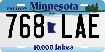 MN license plate 768LAE
