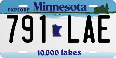 MN license plate 791LAE